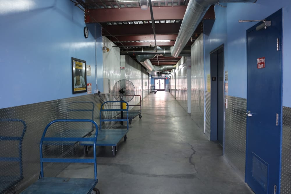 Moving carts at Golden State Storage - Tropicana