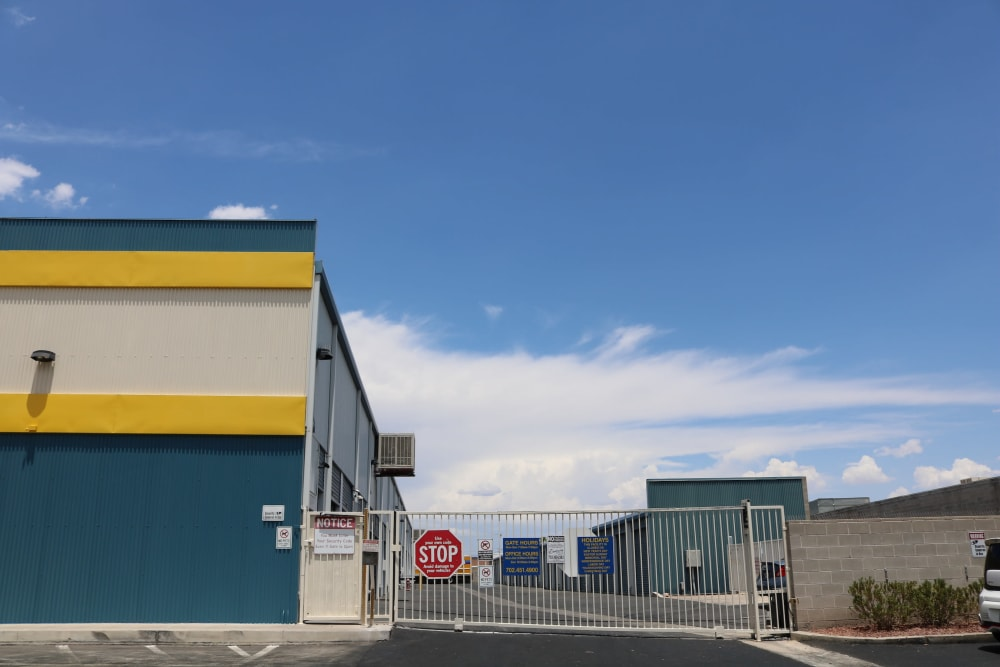 Security features at Golden State Storage - Tropicana
