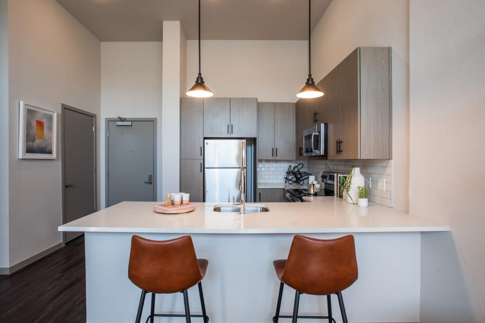 Modern kitchen at Marq Iliff Station in Aurora, Colorado