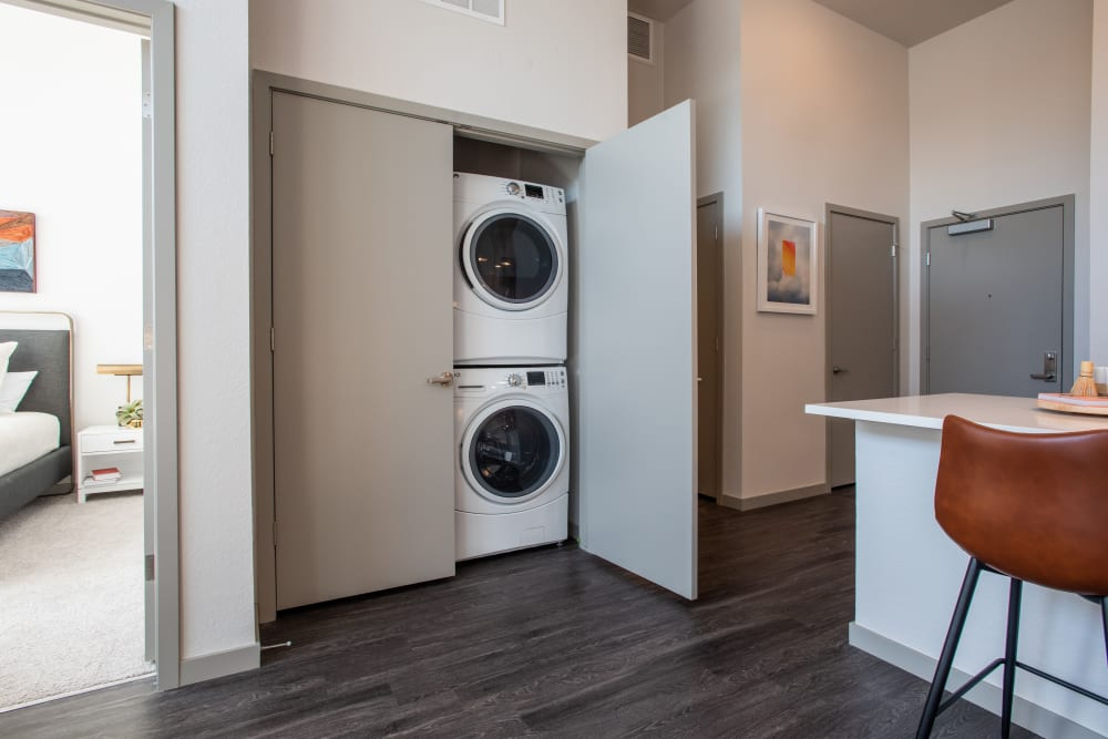 In-home washer and dryer at Marq Iliff Station in Aurora, Colorado