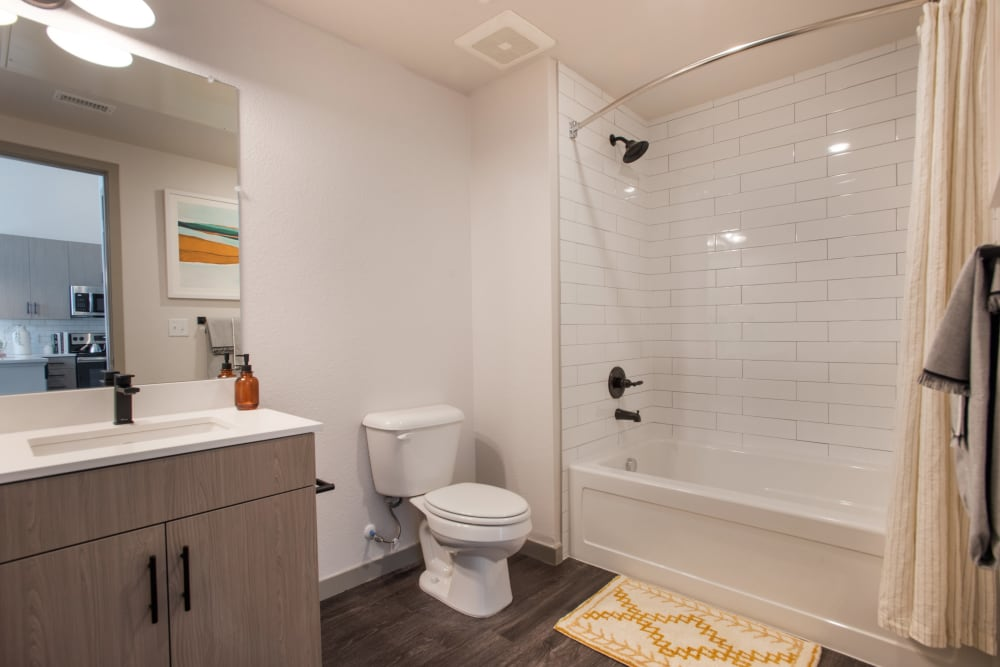 Clean bathroom at Marq Iliff Station in Aurora, Colorado