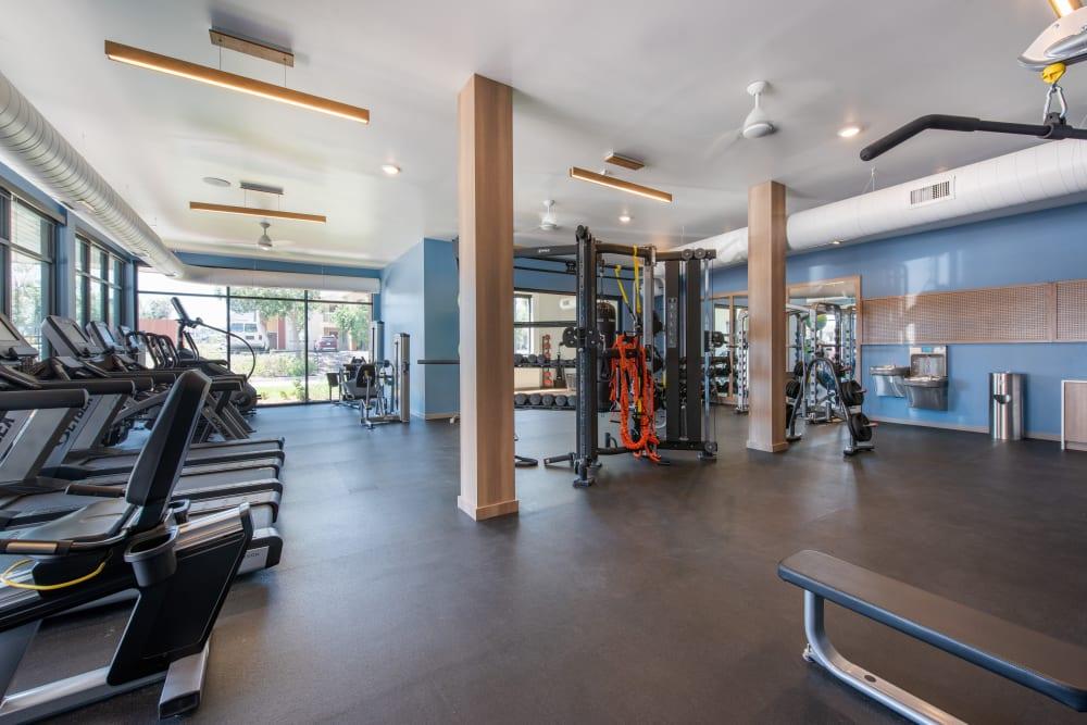 Fitness center at Marq Iliff Station in Aurora, Colorado