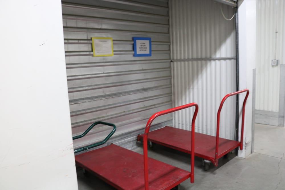 Moving carts at Golden State Storage - Horizon Ridge