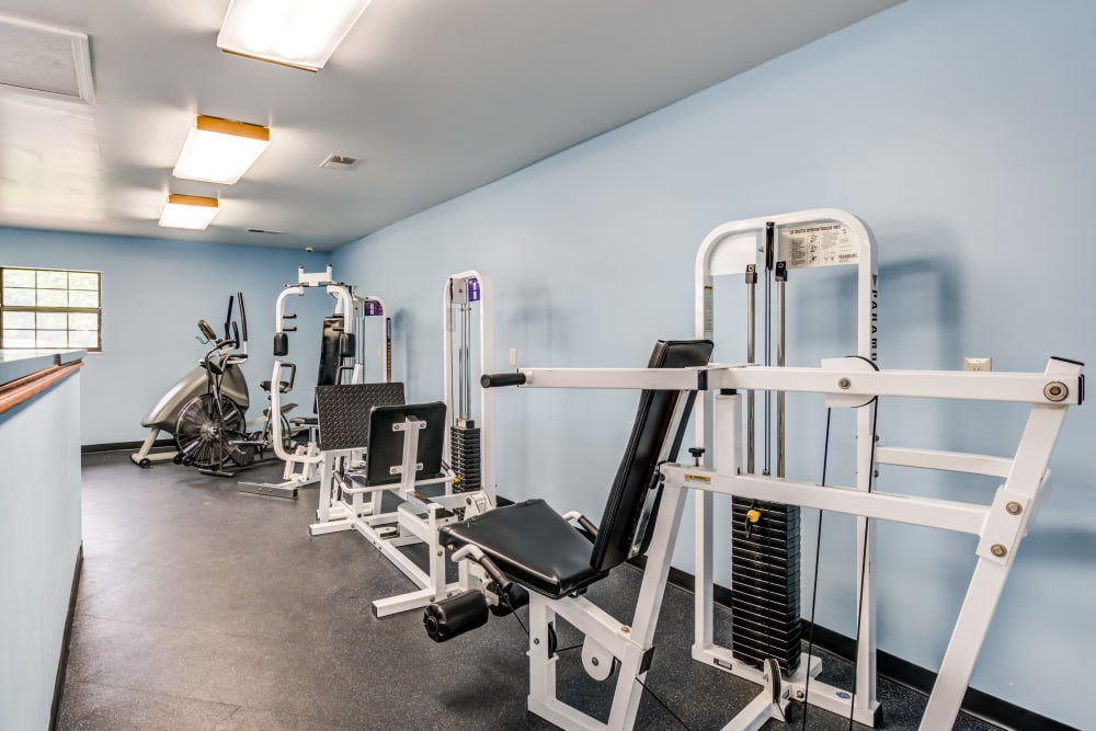 Fitness Center at Village Green Apartments in Evansville, IN