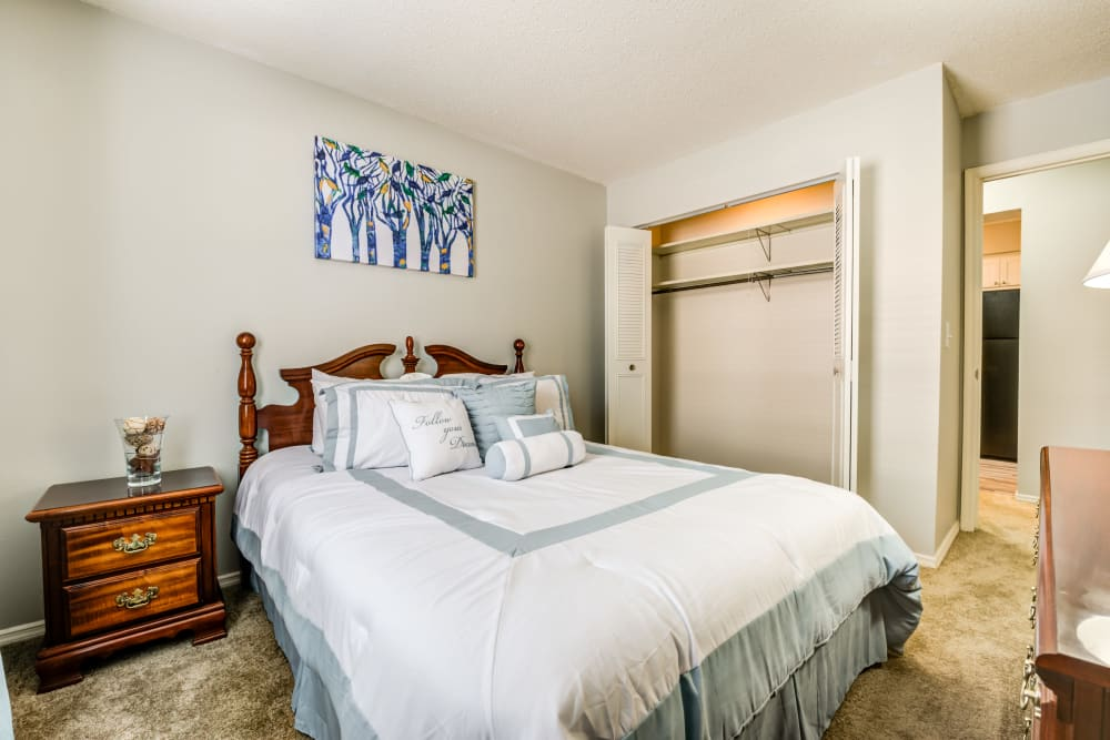 Spacious Bedroom at Village Green Apartments in Evansville, IN