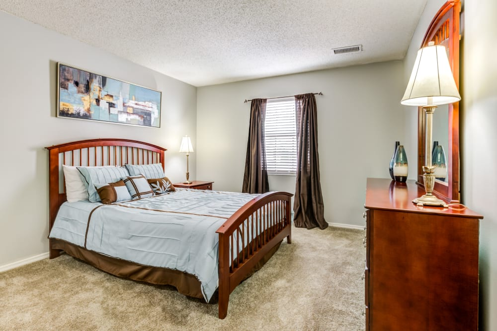 Spacious Bedrooms at Village Green Apartments in Evansville, IN