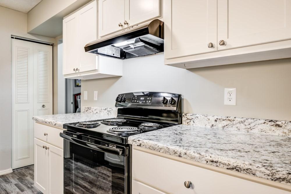 Premium Kitchen Package with Black Appliances at Village Green Apartments in Evansville, IN
