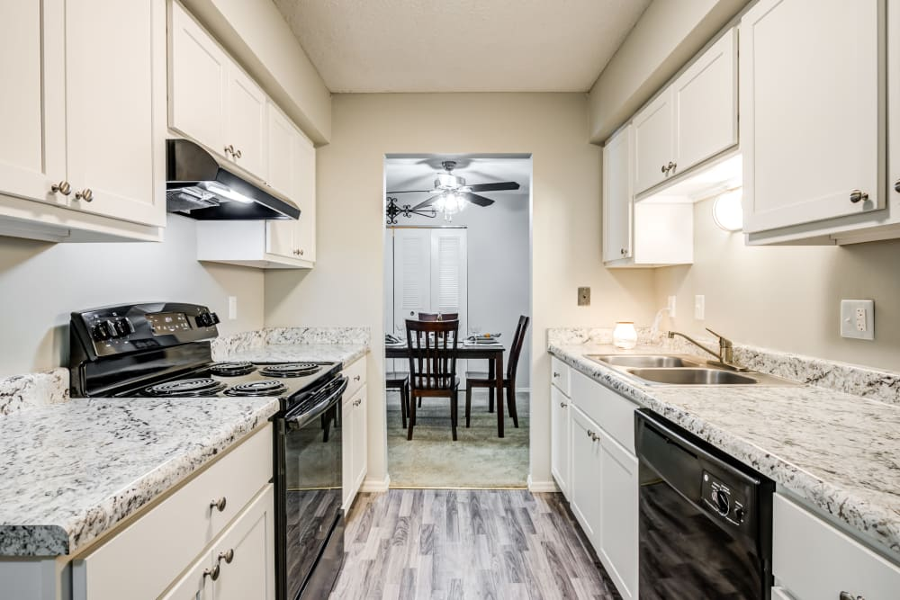 Premium Kitchen Package with Brand New Cabinets at Village Green Apartments in Evansville, IN