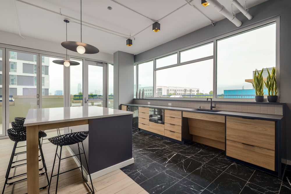 Living room with a view at 21 Rio in Austin, Texas