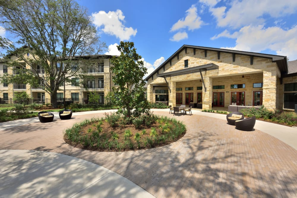 Clubhouse exterior at Olympus Falcon Landing in Katy, Texas