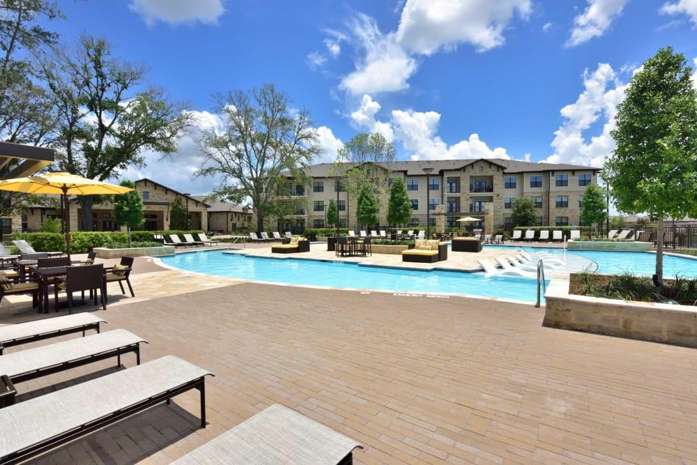 Spacious pool at Olympus Falcon Landing in Katy, Texas