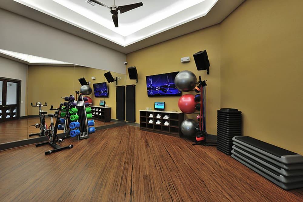 Fitness center at Olympus Falcon Landing in Katy, Texas
