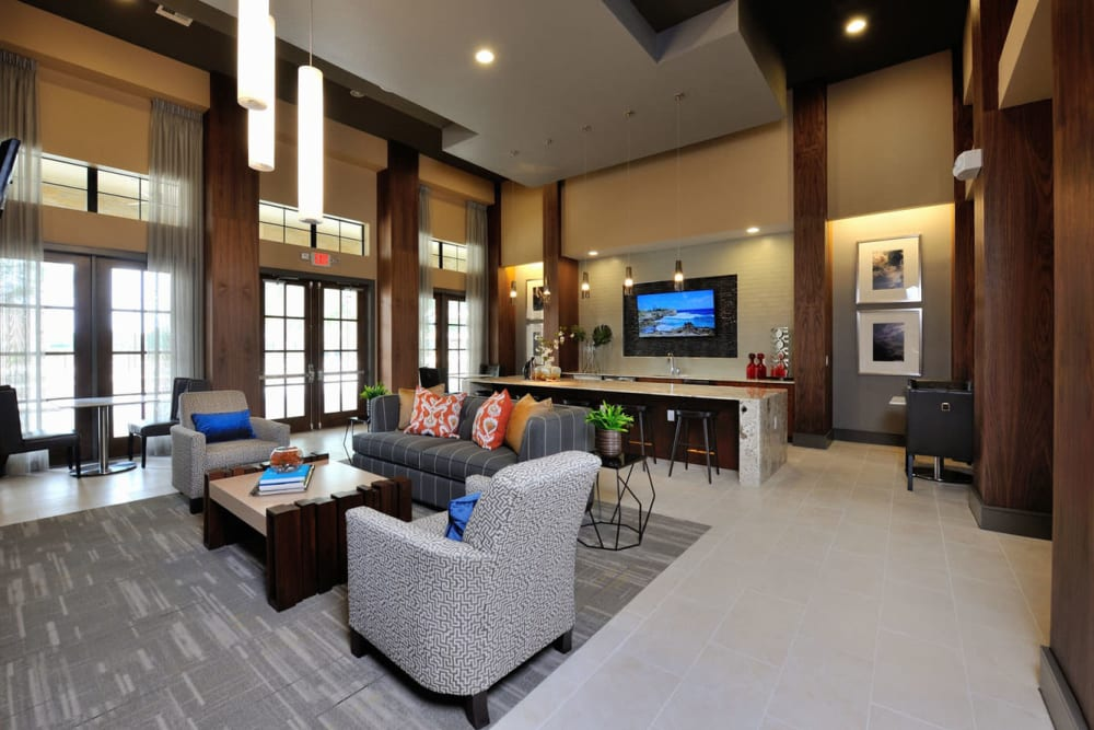 Social lounge at Olympus Falcon Landing in Katy, Texas