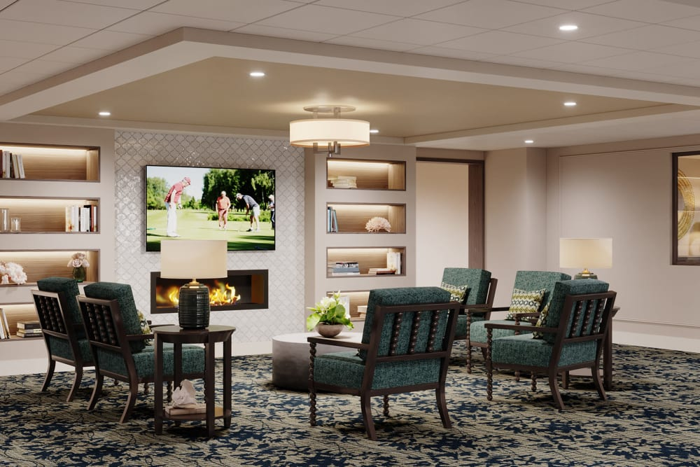 Internal common area photo rendering of The Meridian at Brandon in Tampa, Florida