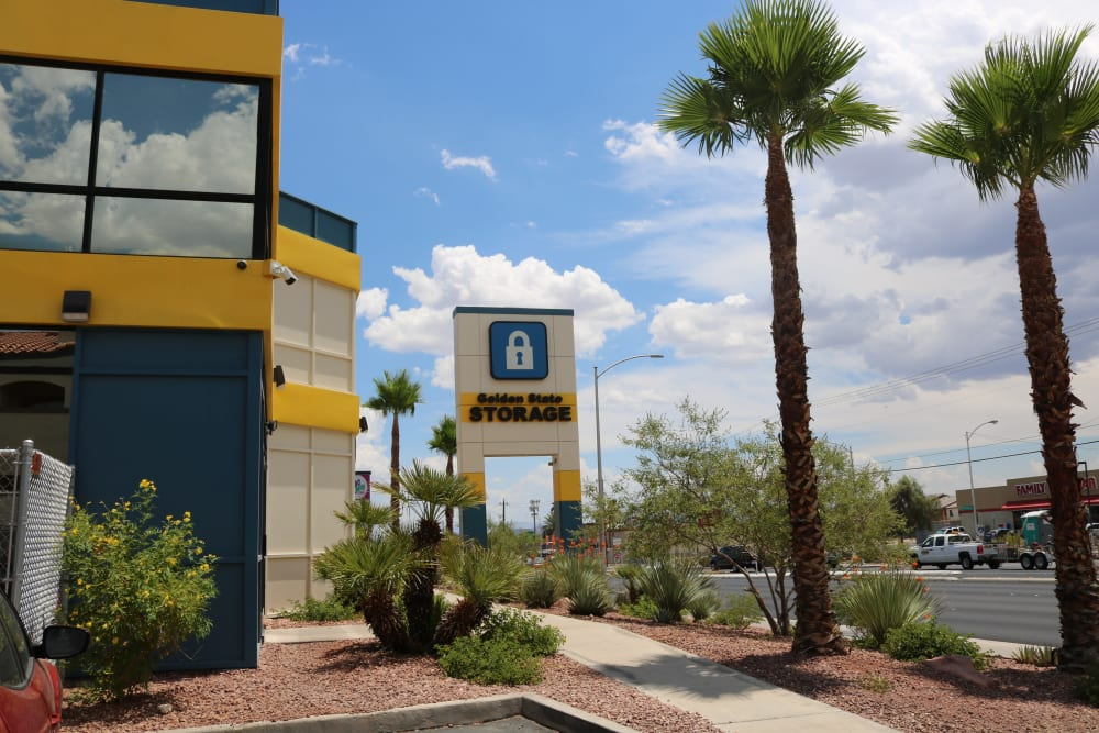 Exterior view of Golden State Storage - Tropicana in Las Vegas, Nevada