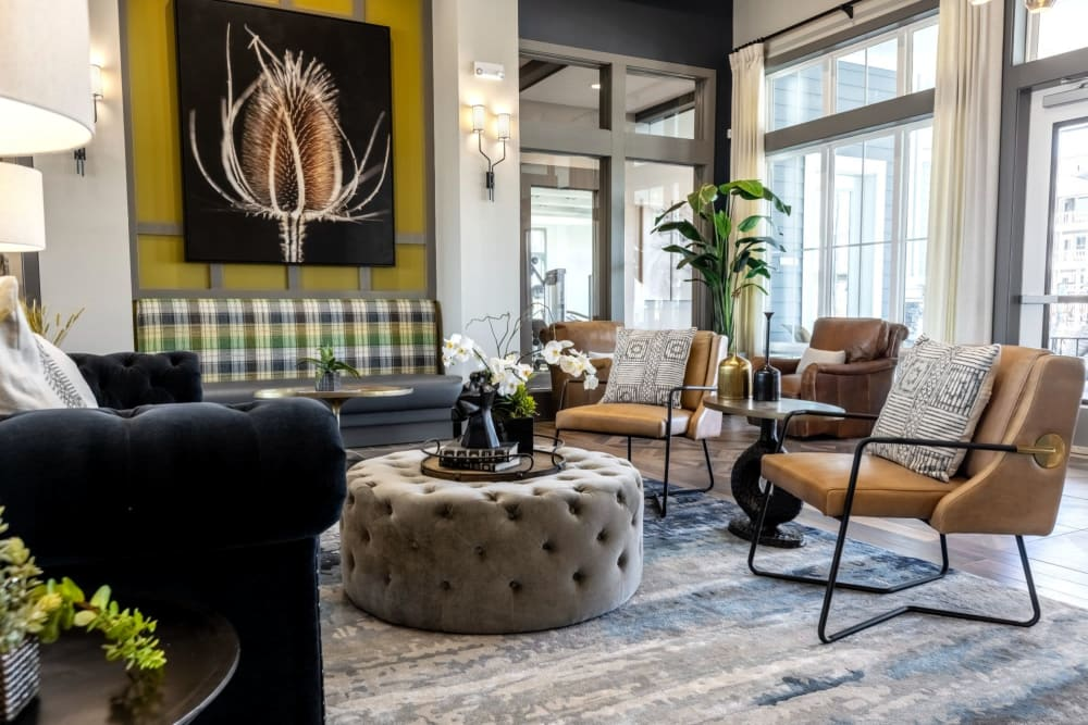 Very cool rustic lounge area at Parc at Murfreesboro in Murfreesboro, Tennessee