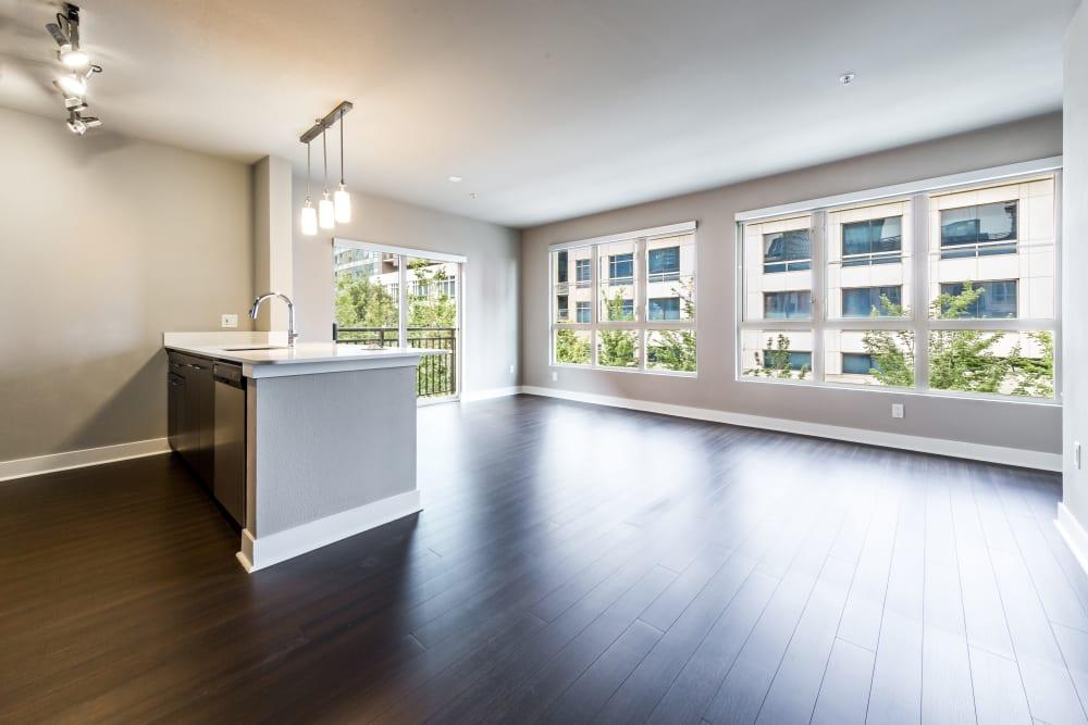Open floor plan at Marq 211 in Seattle, Washington