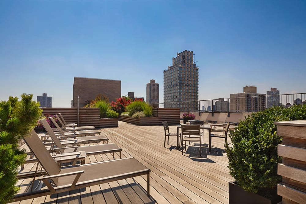 Incredible rooftop lounge area at The Ventura in New York, New York