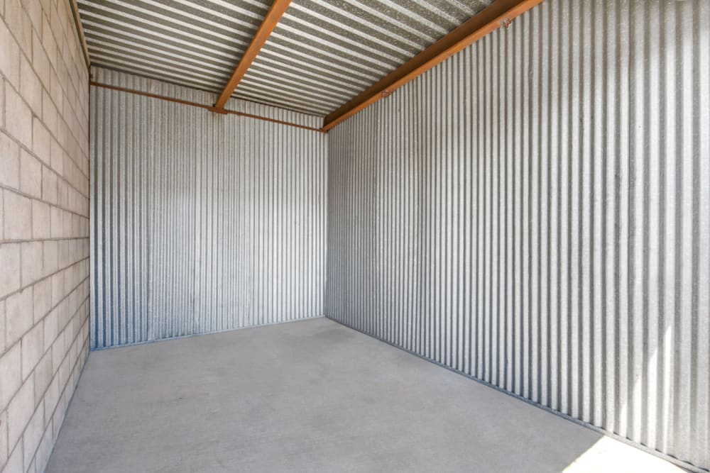 Unit interior at Storage Etc... Rosemead in Rosemead, California