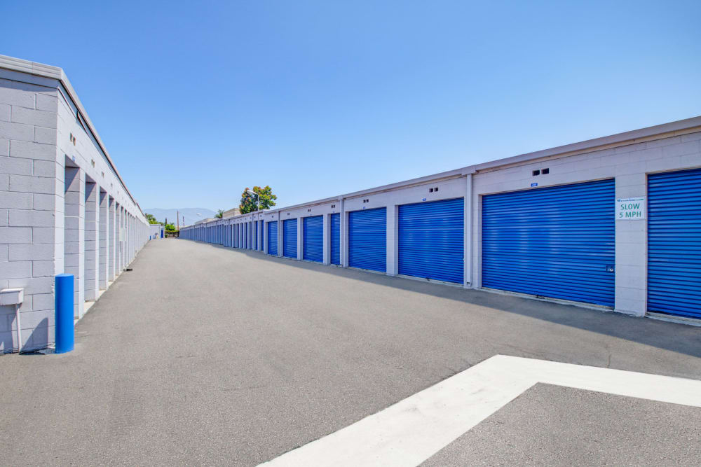 Driveway lined with units at Storage Etc... Rosemead in Rosemead, California