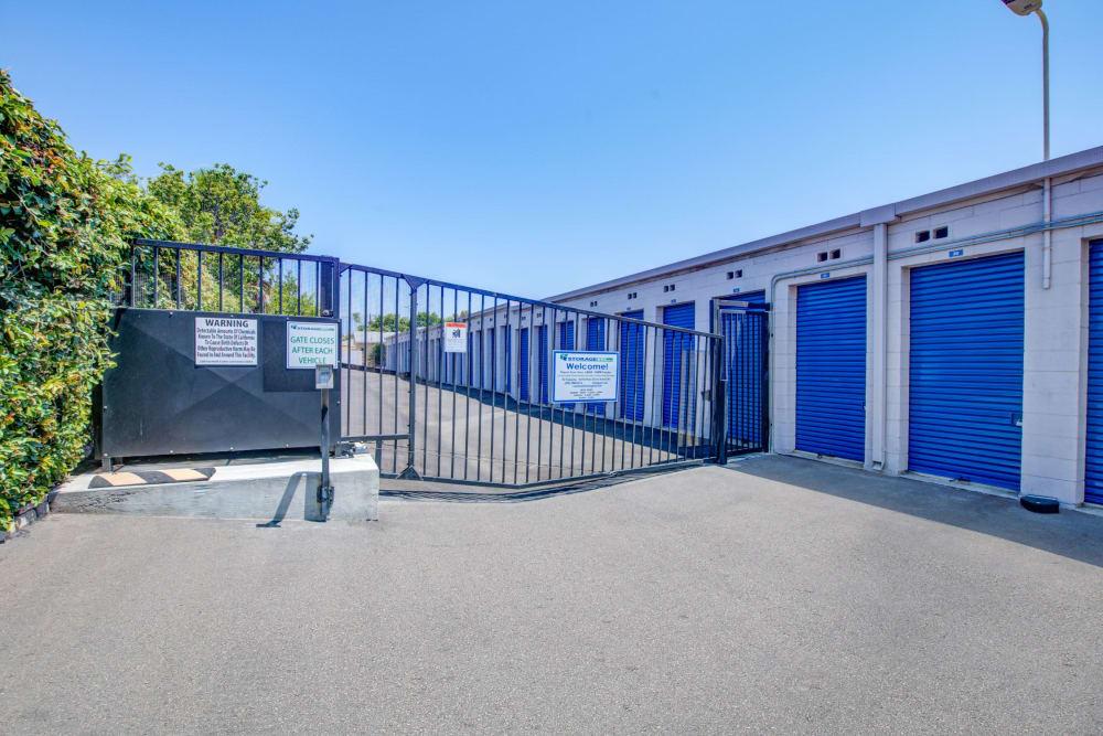 Gated entrance at Storage Etc... Rosemead in Rosemead, California