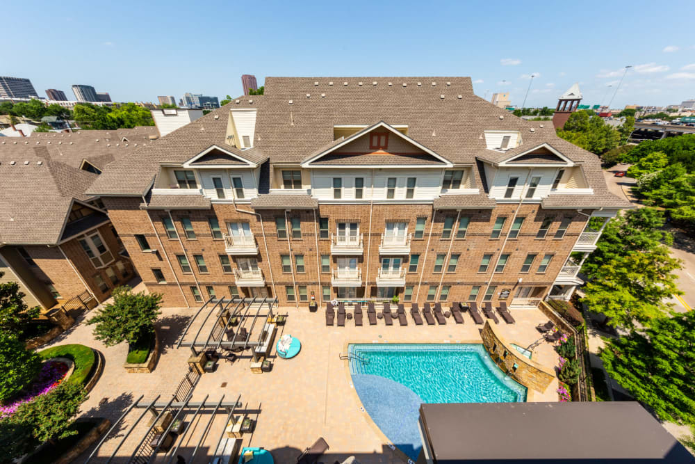 Aerial view of The Marquis of State Thomas in Dallas, Texas