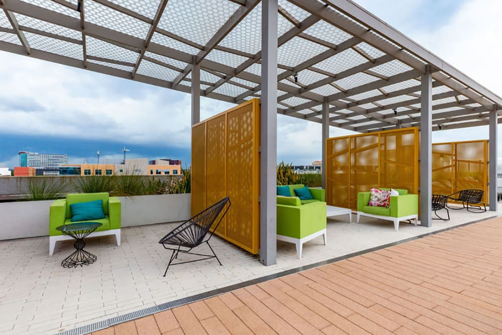 Rooftop lounge area with gorgeous views at Central Station on Orange in Orlando, Florida