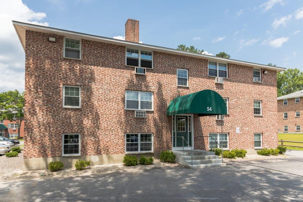 Classic brick building at Eagle Rock Apartments at Nashua in Nashua, New Hampshire