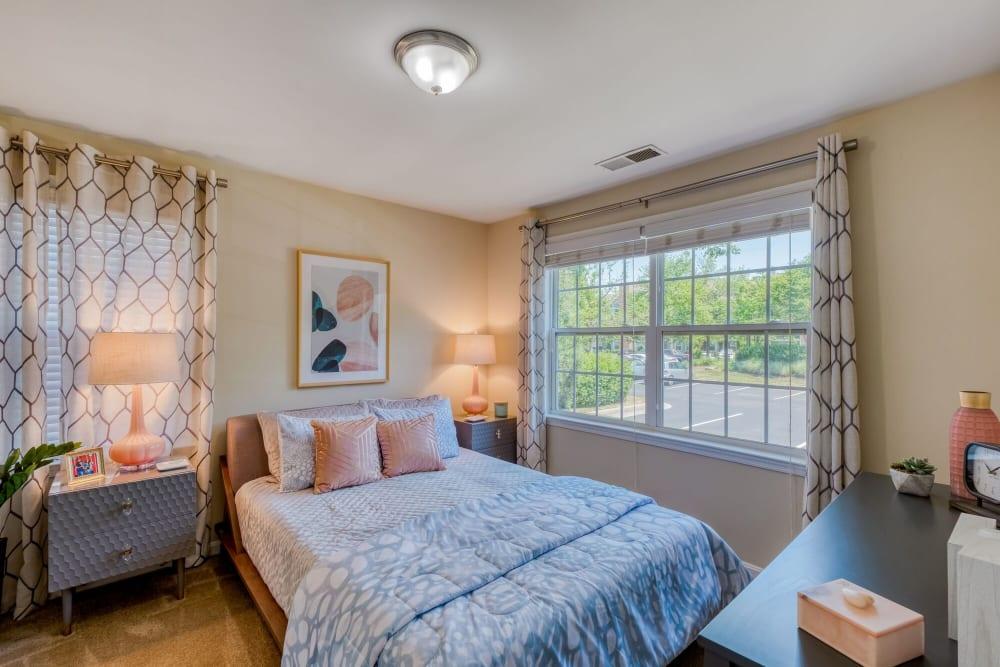 Model Bedroom at Abbotts Run Apartments in Alexandria, Virginia