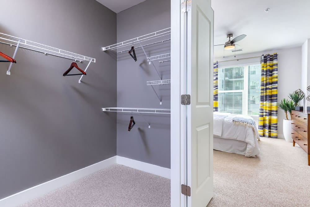 Very spacious closet in the bedroom at Central Station on Orange in Orlando, Florida