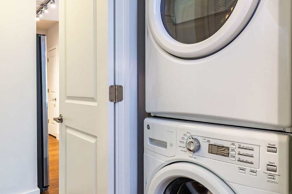 Washer and dryer in home at Central Station on Orange in Orlando, Florida