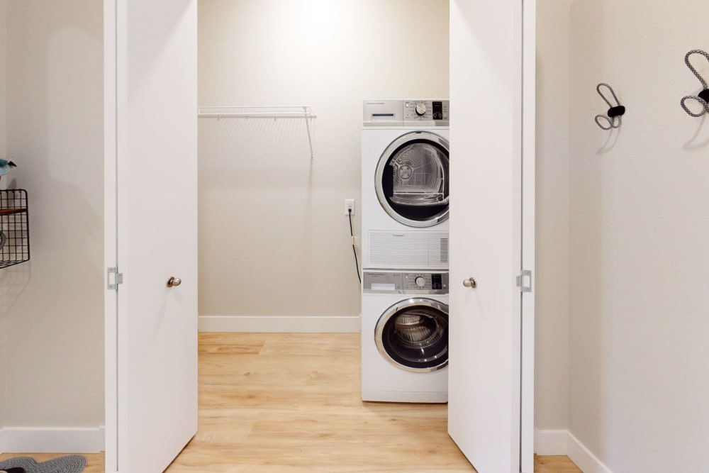 Washer and dryer at Brookside Apartments in Gresham, Oregon