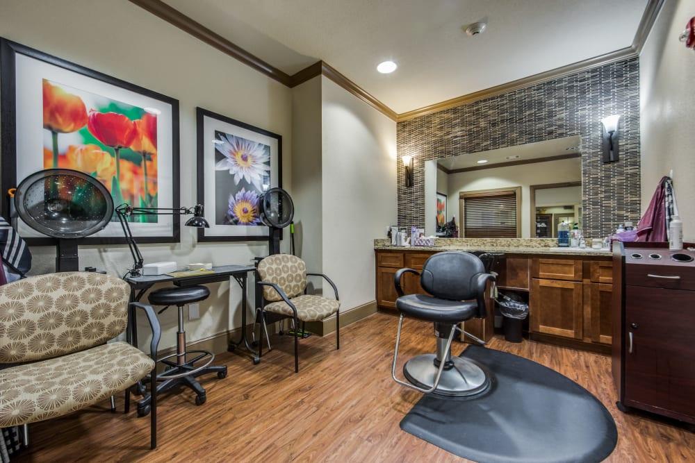 Onsite salon at The Landing at Stone Oak in San Antonio, Texas