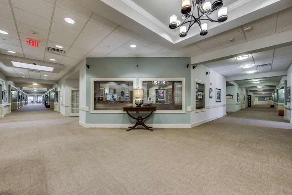 The lobby at The Landing at Stone Oak in San Antonio, Texas