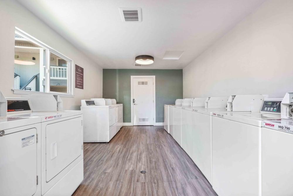 Laundry room at Haven Martinez in Martinez, California