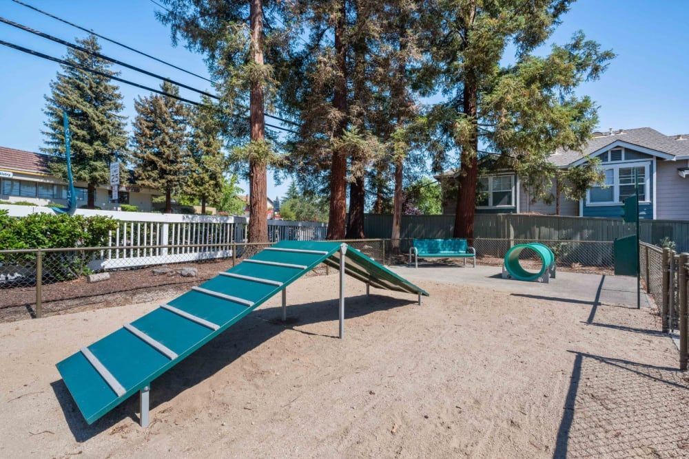 Playground with various toys at Haven Martinez in Martinez, California