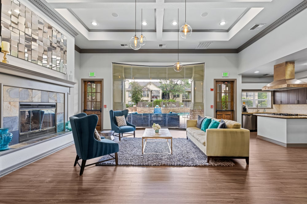 Welcoming club house at Marquis at Town Centre in Broomfield, Colorado