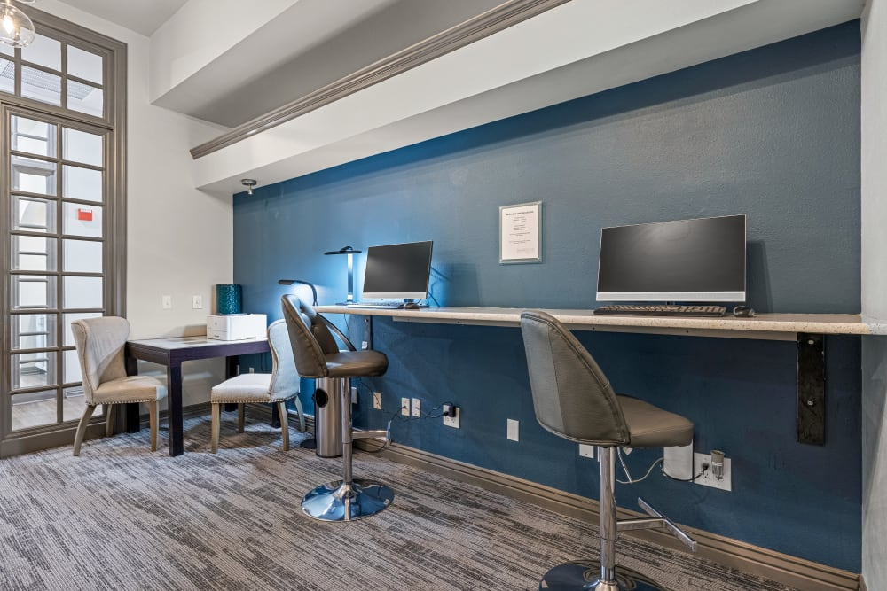 Business center available at Marquis at Town Centre in Broomfield, Colorado