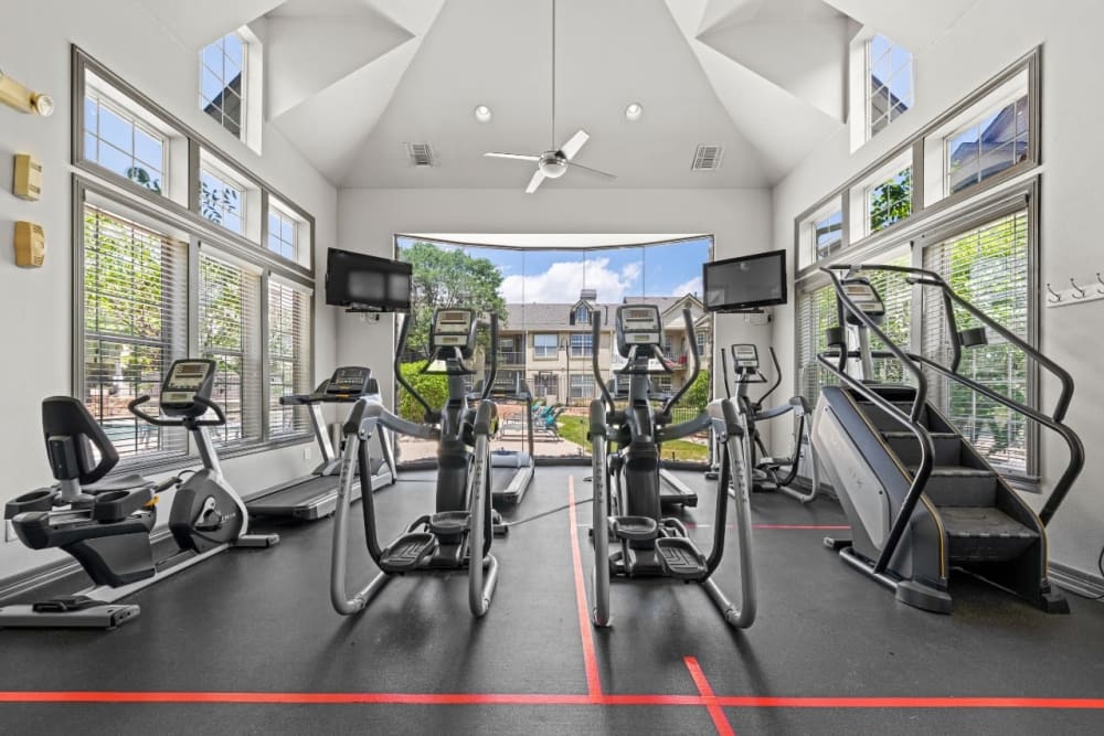 Well equipped fitness center at Marquis at Town Centre