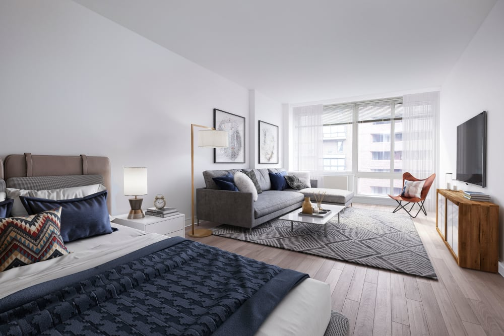 Very spacious studio in a model home at The Ventura in New York, New York