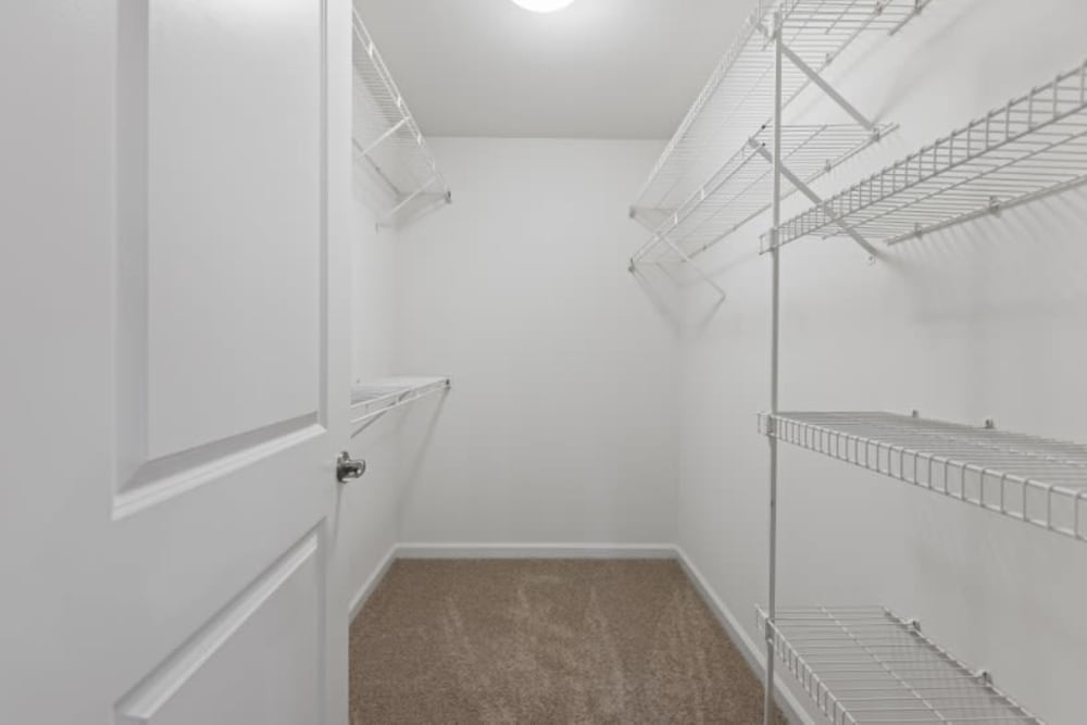 Large walk in closet at Marquis on Cary Parkway