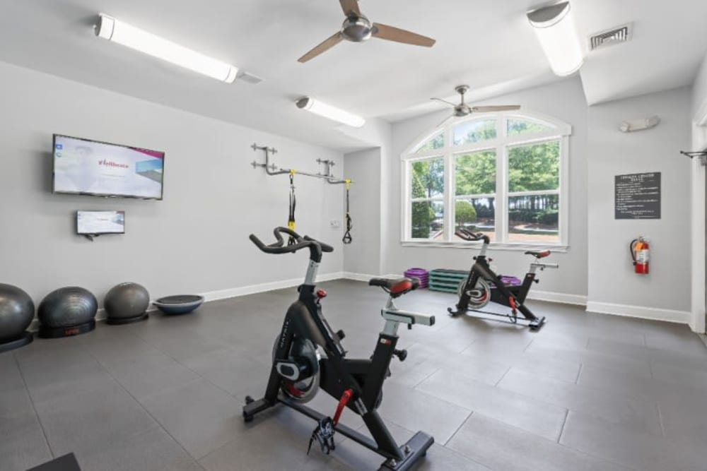 Fitness center at Marquis on Cary Parkway