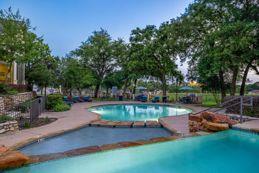 View of multiple pools at The Marquis at Brushy Creek in Austin, Texas