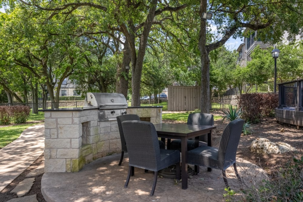 Outdoor barbecue at The Marquis at Brushy Creek in Austin, Texas