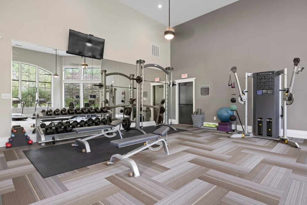 Fitness center at The Marquis at Brushy Creek