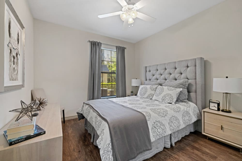 Cozy bedroom in unit at The Marquis at Brushy Creek