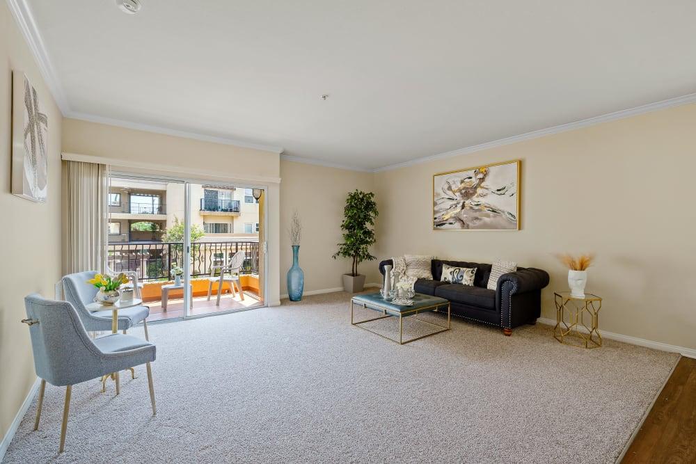 Living room at The Villagio, in Northridge, CA