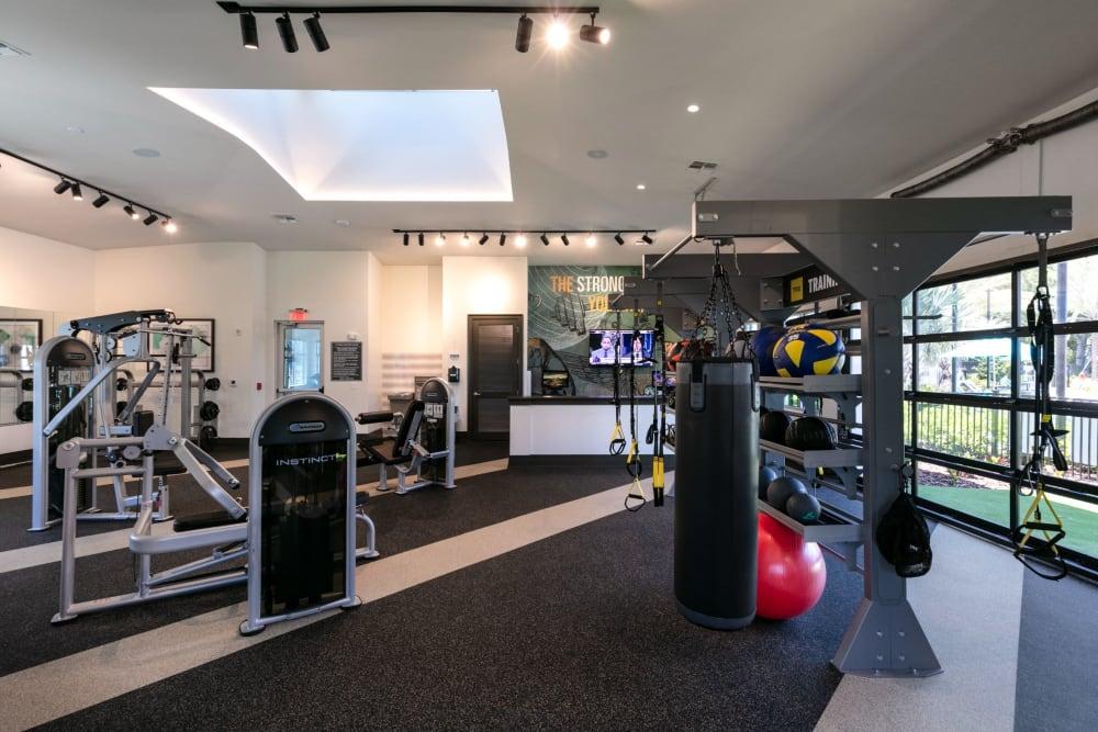 Fitness center at Integra Crossings in Sanford, Florida