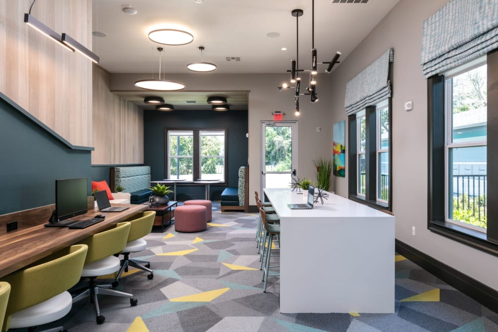 Modern clubhouse at Integra Crossings in Sanford, Florida