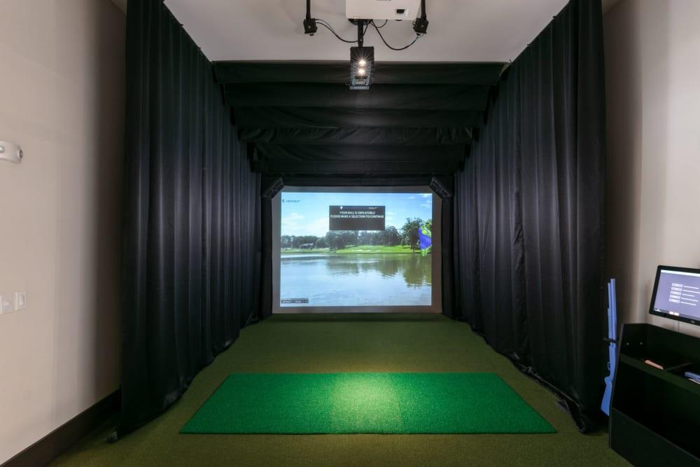 Virtual driving range at Integra Crossings in Sanford, Florida
